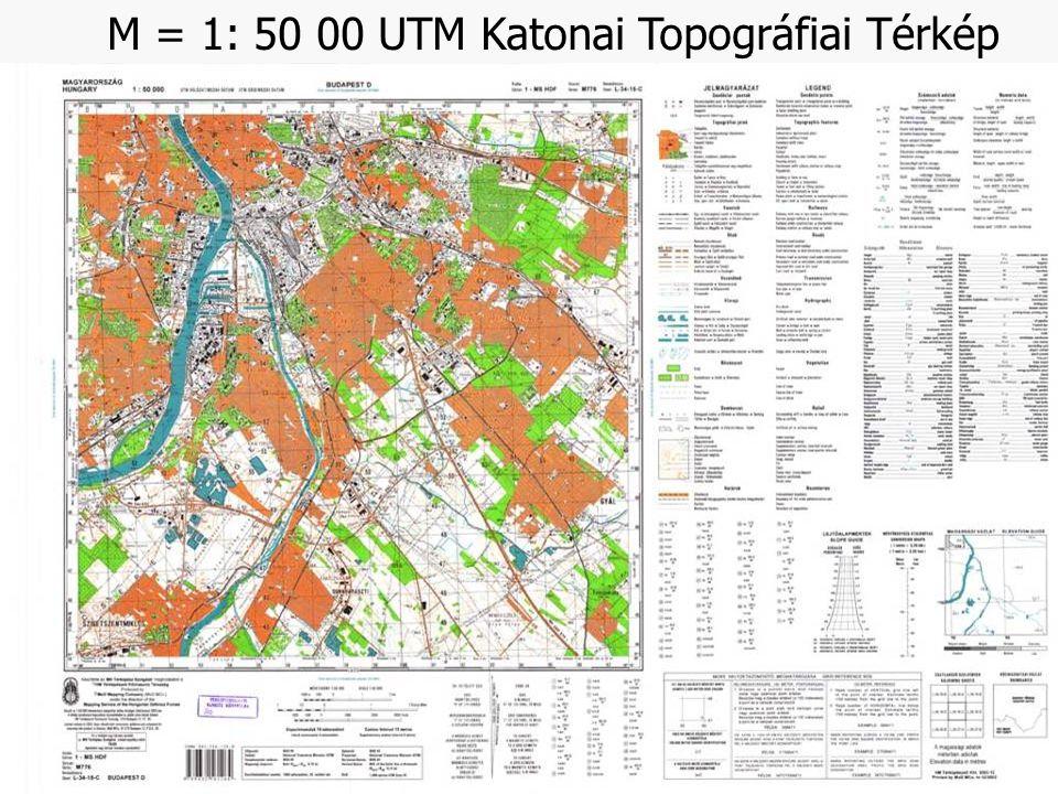 M = 1: 50 00 UTM Katonai Topográfiai Térkép
