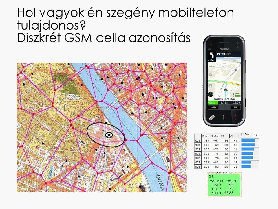 Hol vagyok én szegény mobiltelefon tulajdonos? Diszkrét GSM cella azonosítás