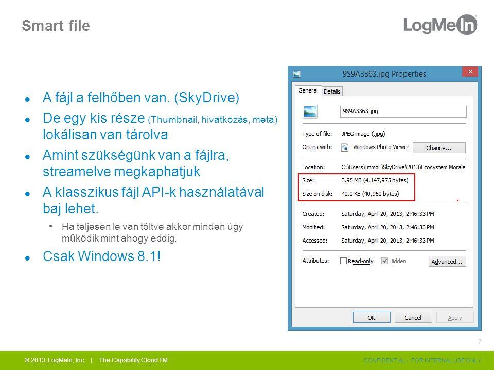 Smart file ● A fájl a felhőben van.