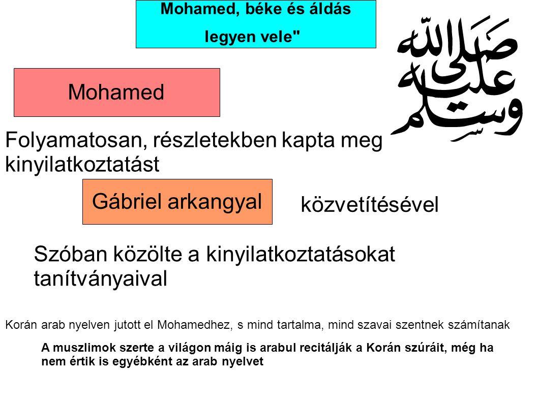 Mohamed Mohamed, béke és áldás legyen vele