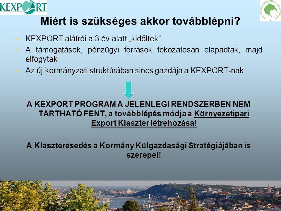 """Miért is szükséges akkor továbblépni? - - KEXPORT aláírói a 3 év alatt """"kidőltek"""" - - A támogatások, pénzügyi források fokozatosan elapadtak, majd elf"""