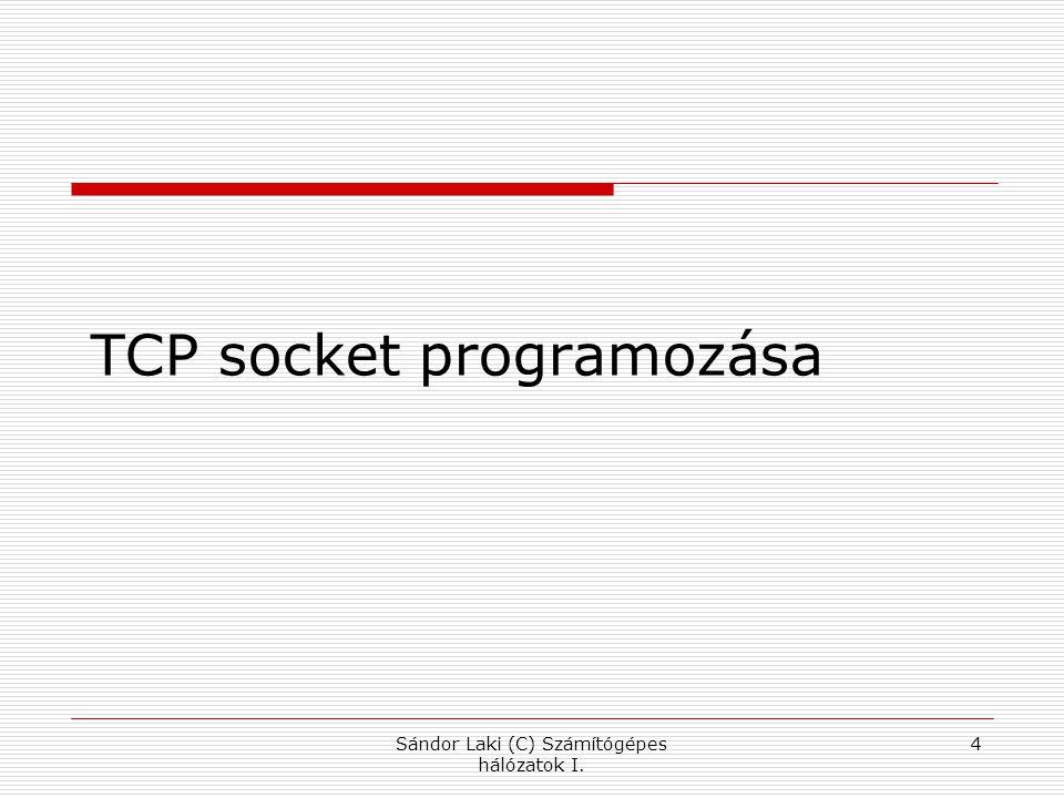 Sándor Laki (C) Számítógépes hálózatok I. 4 TCP socket programozása