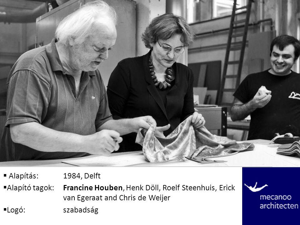  Alapítás:1984, Delft  Alapító tagok:Francine Houben, Henk Döll, Roelf Steenhuis, Erick van Egeraat and Chris de Weijer  Logó:szabadság