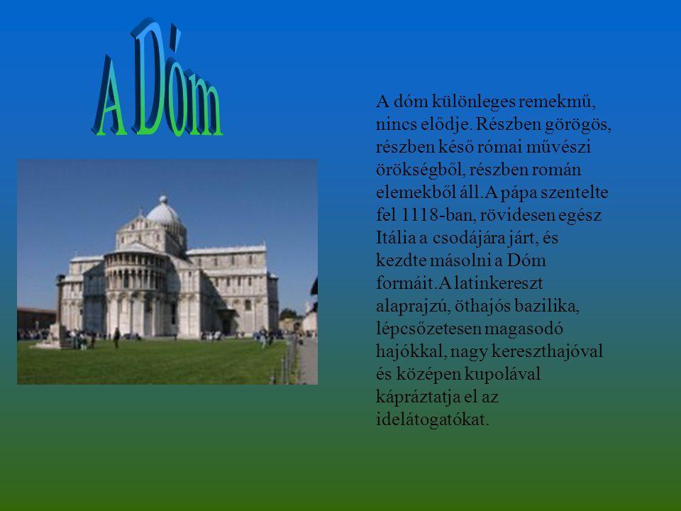 A dóm különleges remekmű, nincs elődje. Részben görögös, részben késő római művészi örökségből, részben román elemekből áll.A pápa szentelte fel 1118-