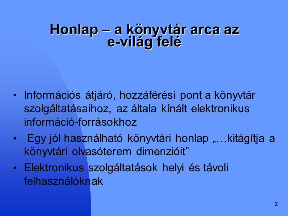 33 Kölcsönzési információk Beiratkozás Kölcsönzés Könyvtárközi kölcsönzés Hosszabbítás (vonalkód megadása után hiba) Előjegyzés (nem működik) Tájékoztatás holt link Egyetem Debrecen Könyvtárosoknak - Intranet Sitemap holt link