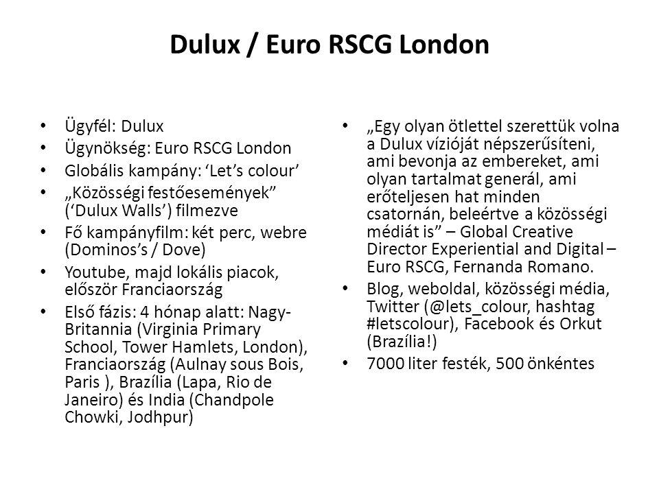 """Dulux / Euro RSCG London Ügyfél: Dulux Ügynökség: Euro RSCG London Globális kampány: 'Let's colour' """"Közösségi festőesemények"""" ('Dulux Walls') filmezv"""