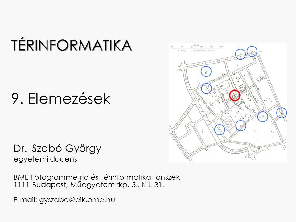 Dr. Szabó György egyetemi docens BME Fotogrammetria és Térinformatika Tanszék 1111 Budapest, Műegyetem rkp. 3., K I. 31. E-mail: gyszabo@eik.bme.hu TÉ