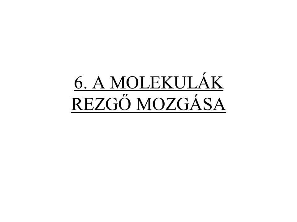 6. A MOLEKULÁK REZGŐ MOZGÁSA