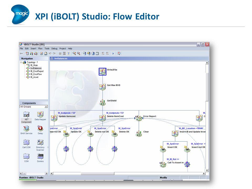 XPI (iBOLT) Studio: Flow Editor