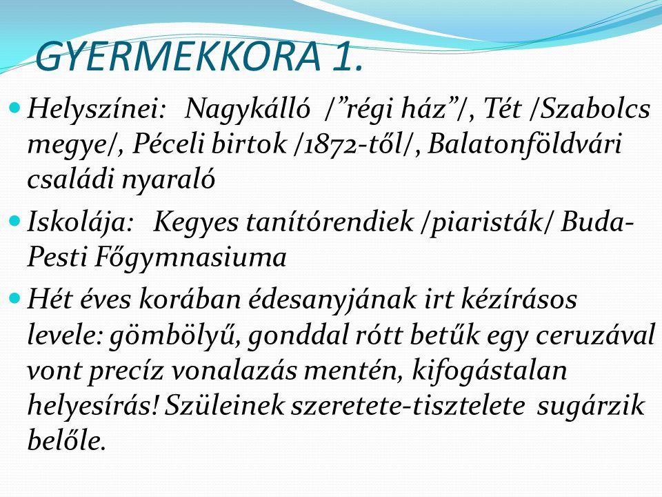 GYERMEKKORA 1.