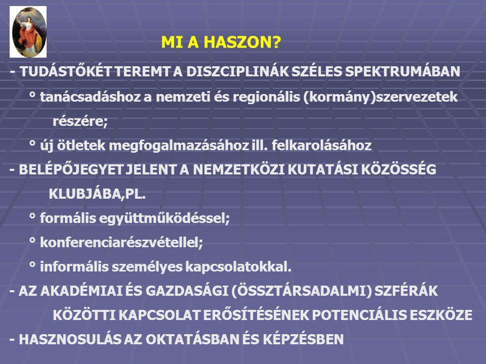 MI A HASZON.
