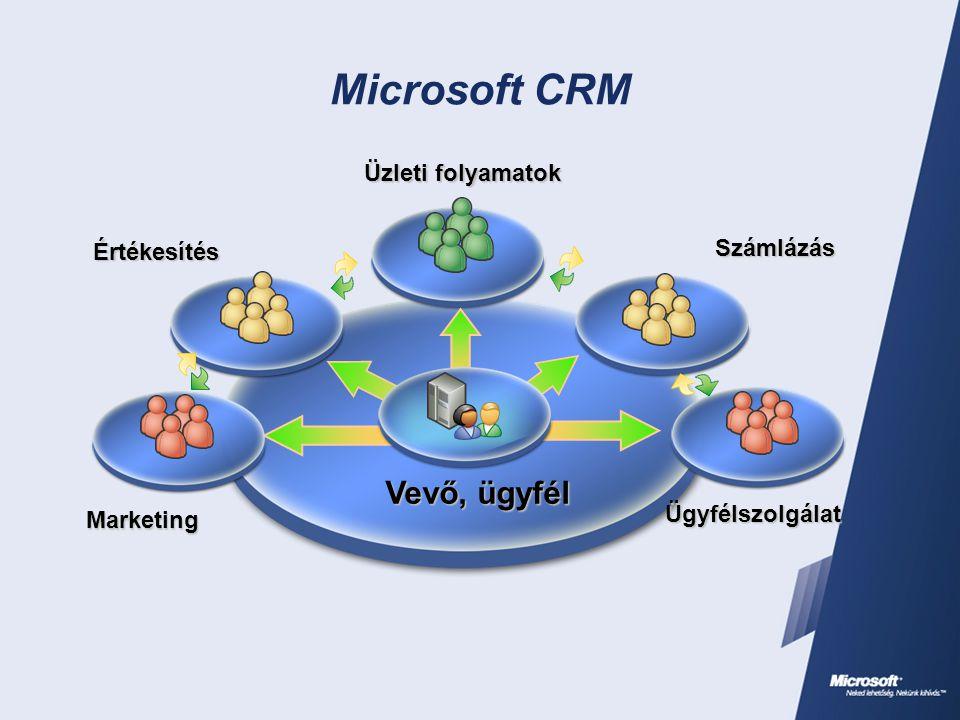 Microsoft CRM Marketing Ügyfélszolgálat Üzleti folyamatok Számlázás Értékesítés Vevő, ügyfél