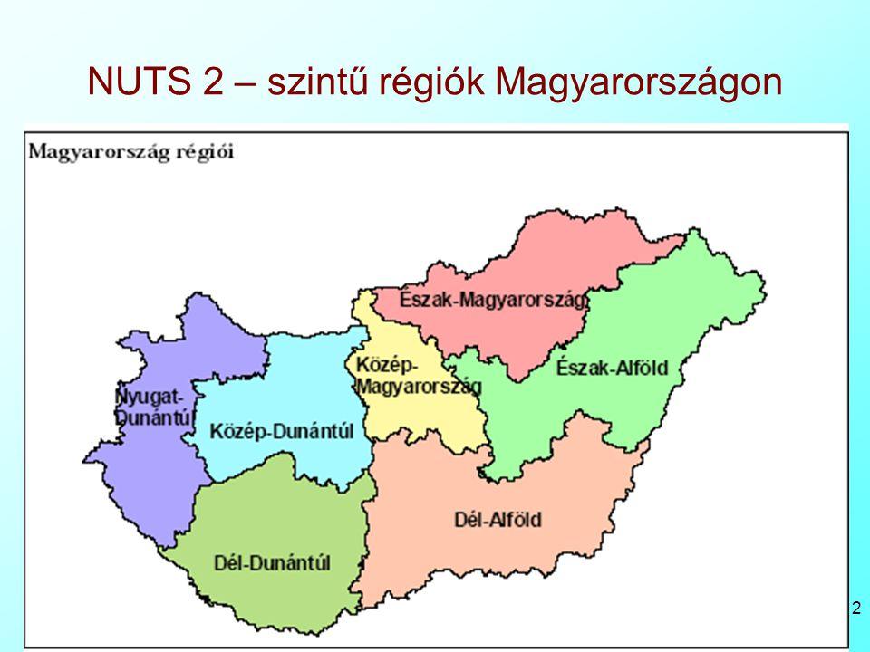 Bacsi - Reg gyak 1 12 NUTS 2 – szintű régiók Magyarországon
