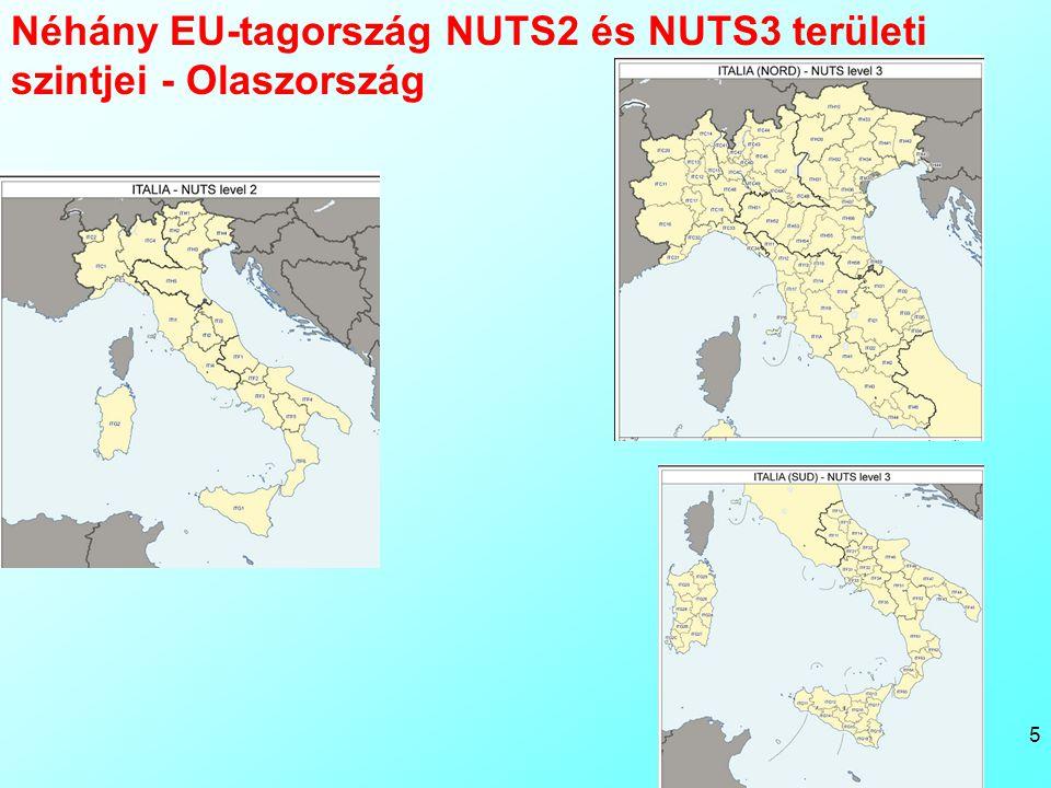 Bacsi - Reg gyak 1 5 Néhány EU-tagország NUTS2 és NUTS3 területi szintjei - Olaszország