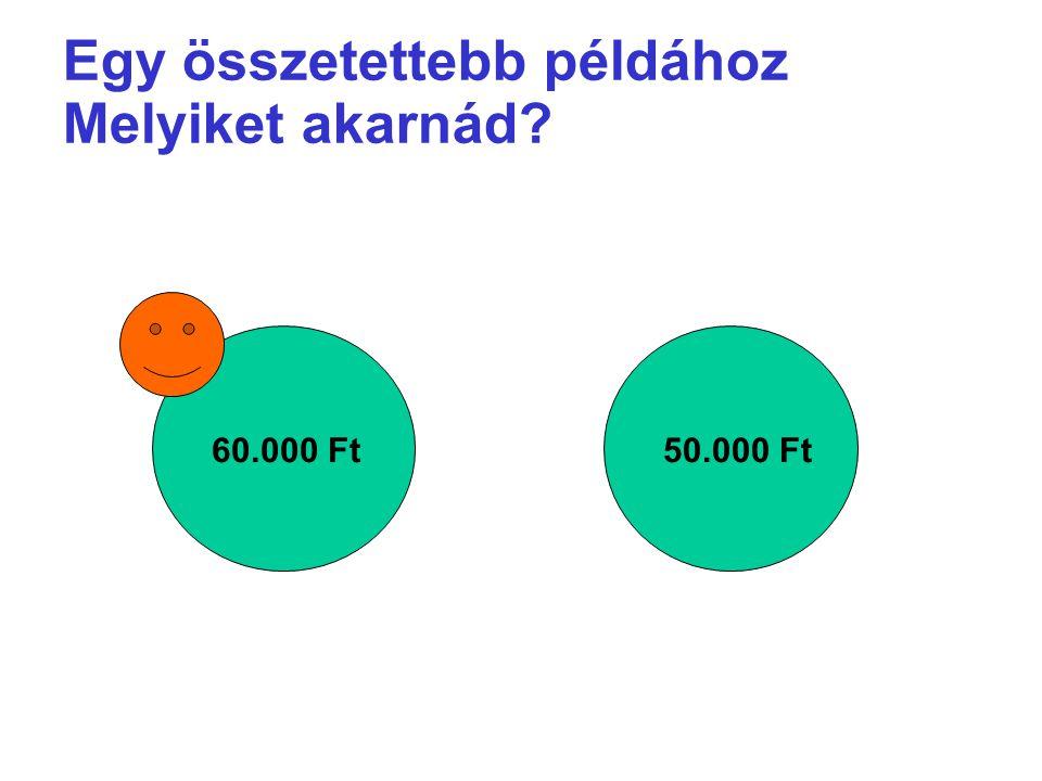 Egy összetettebb példához Melyiket akarnád? 60.000 Ft50.000 Ft