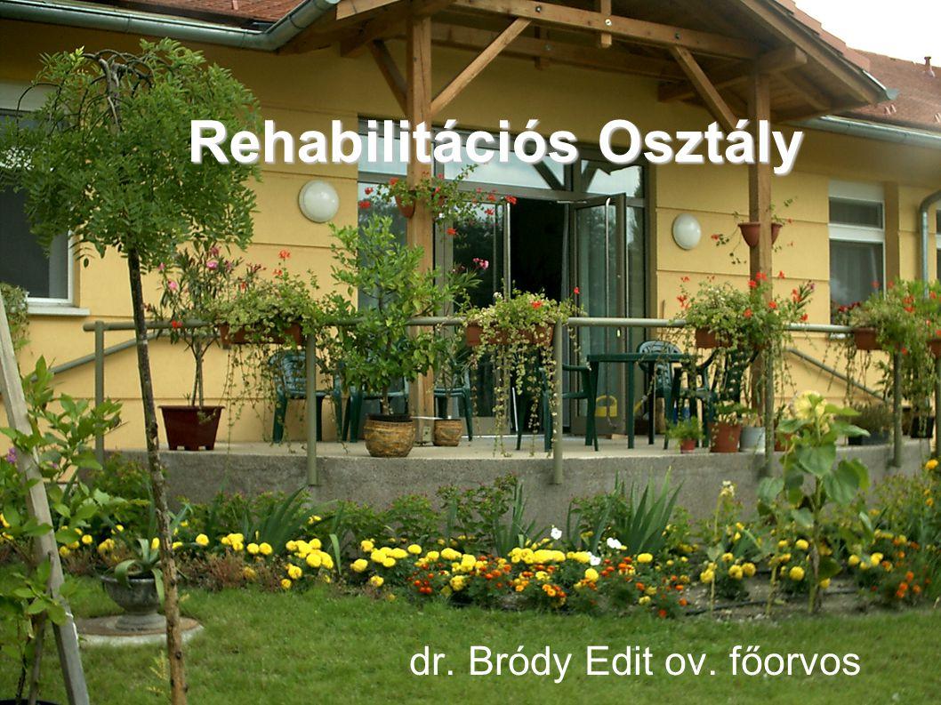 Rehabilitációs Osztály dr. Bródy Edit ov. főorvos