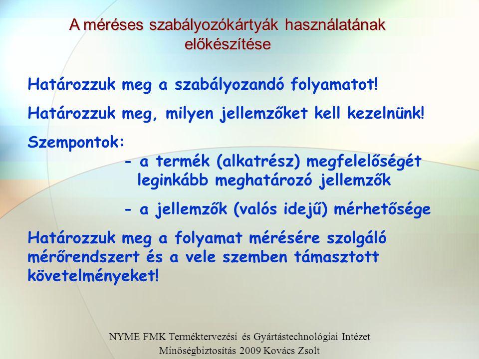 NYME FMK Terméktervezési és Gyártástechnológiai Intézet Minőségbiztosítás 2009. Kovács Zsolt