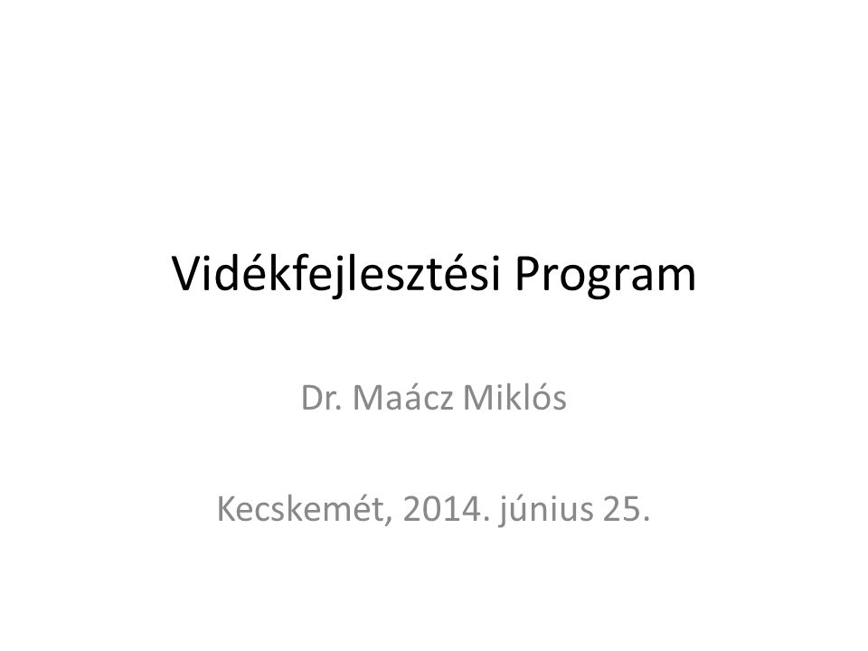 """Az EMVA tervezés sajátosságai Feszes tartalmi keretrendszer (1305/2013/EU rendelet) – Prioritások – Fókuszterületek – Intézkedések, alintézkedések – Intézkedés sablonok – Intézkedés leírásokban """"javasolt tartalmak – Tematikus alprogramok (Fiatal gazda, Rövid ellátási lánc) – LEADER/CLLD (kötelező) – Környezet+erőforrás-hatékonyság legalább 30% A program főösszege 3,45 milliárd euró, amely 1 019 millió Ft (nemzeti társfinanszírozással együtt)"""