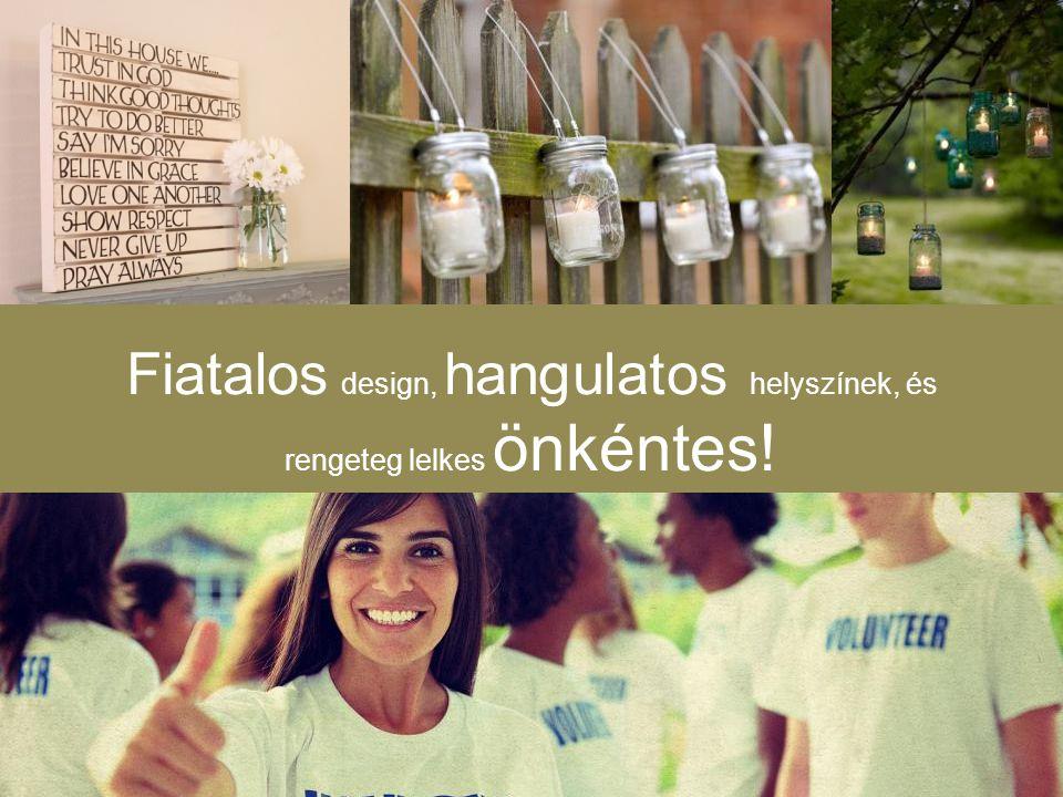 Fiatalos design, hangulatos helyszínek, és rengeteg lelkes önkéntes!
