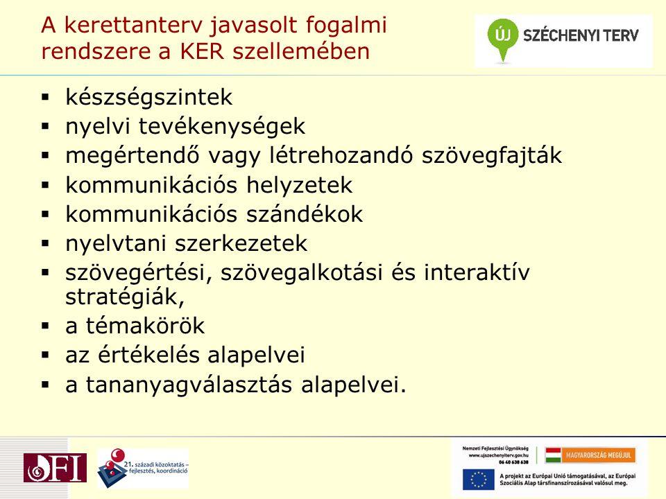 Alapvető célok: Nyelvtanulási stratégiák kialakítása  A tanulás belső motivációinak kialakítása, fejlesztése.