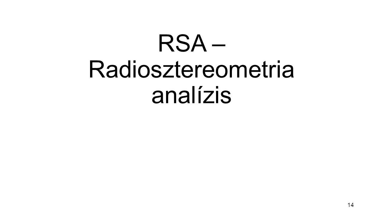 14 RSA – Radiosztereometria analízis