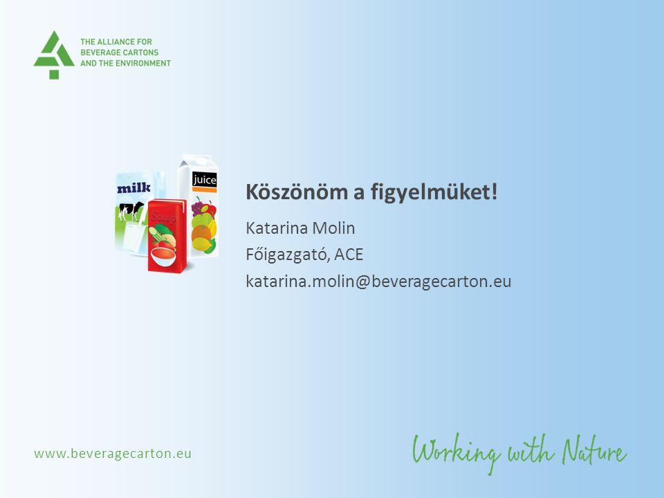 www.beveragecarton.eu Köszönöm a figyelmüket! Katarina Molin Főigazgató, ACE katarina.molin@beveragecarton.eu