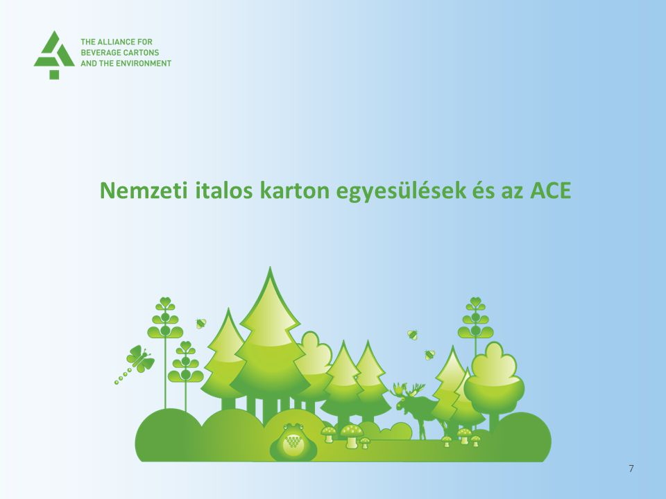 Nemzeti italos karton egyesülések és az ACE 7