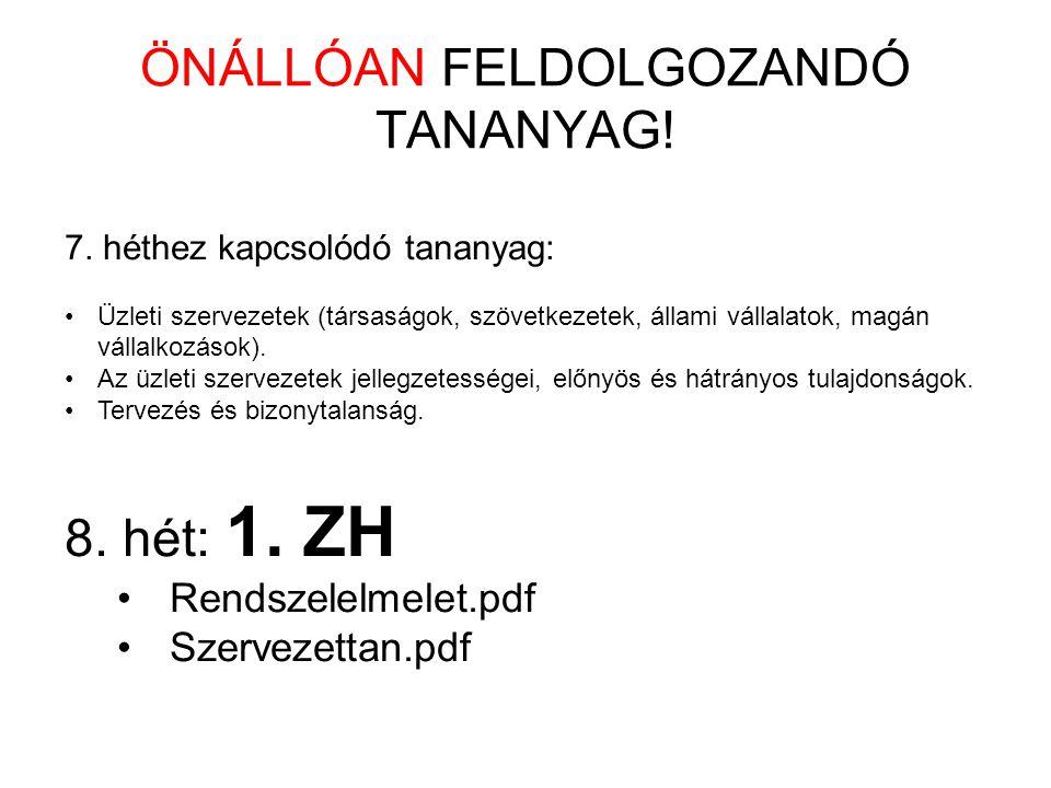ÖNÁLLÓAN FELDOLGOZANDÓ TANANYAG.7.