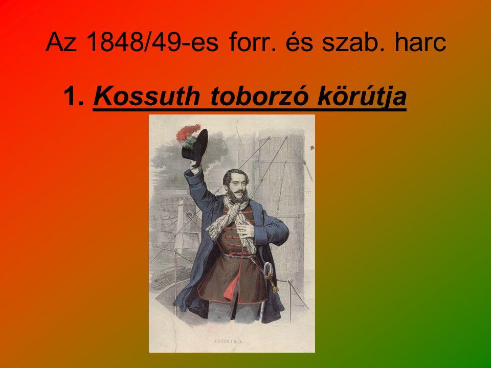 Az 1848/49-es forr. és szab. harc 1. Kossuth toborzó körútja