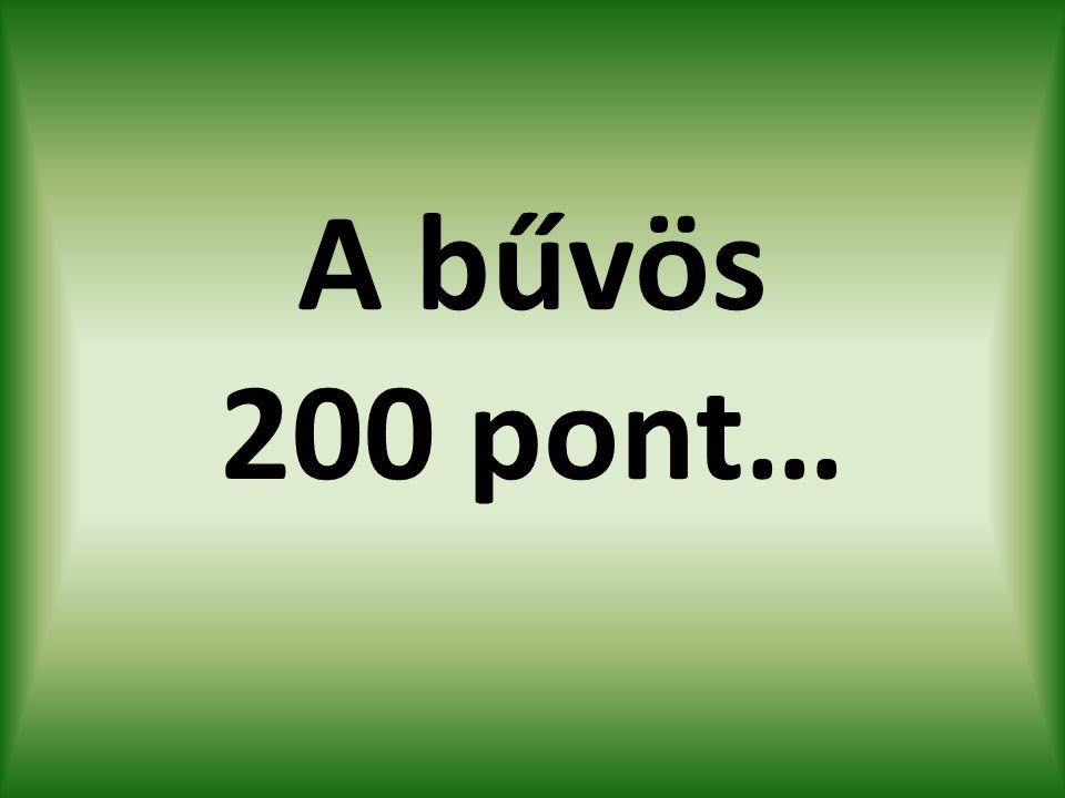 A bűvös 200 pont…