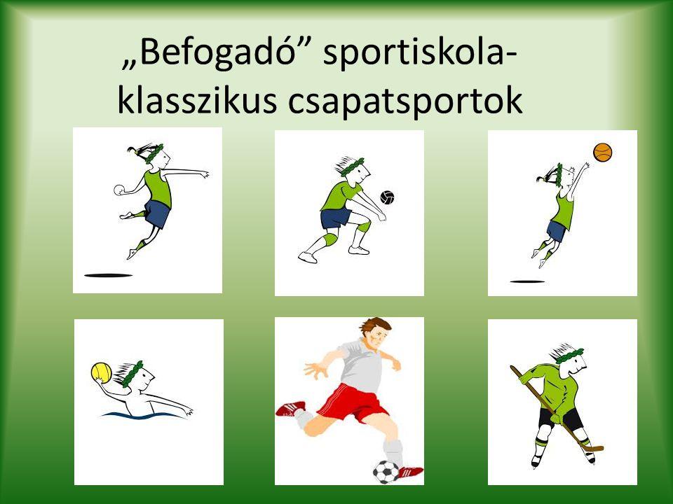 """Befogadó"" sportiskola- klasszikus csapatsportok"