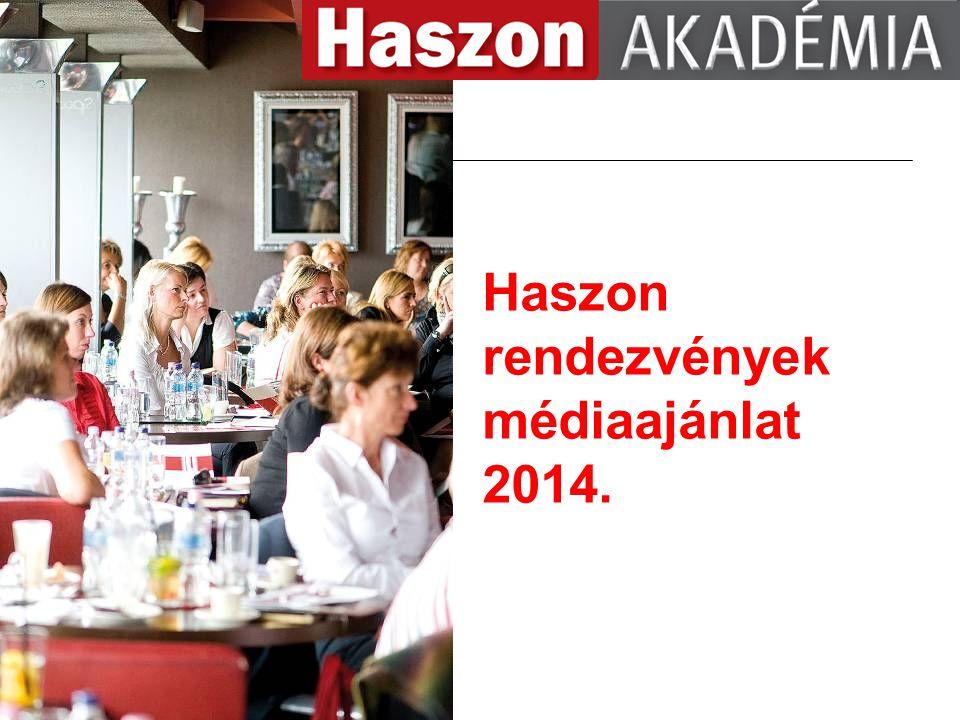 Haszon rendezvények médiaajánlat 2014.