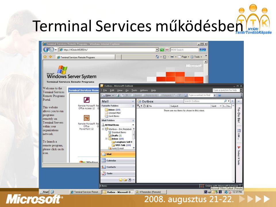 Terminal Services működésben