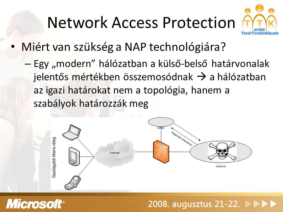 """Network Access Protection Miért van szükség a NAP technológiára? – Egy """"modern"""" hálózatban a külső-belső határvonalak jelentős mértékben összemosódnak"""