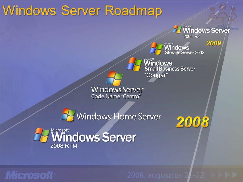 "Windows Server Roadmap 2008 RTM 2008 2008 R2 ""Cougar"""