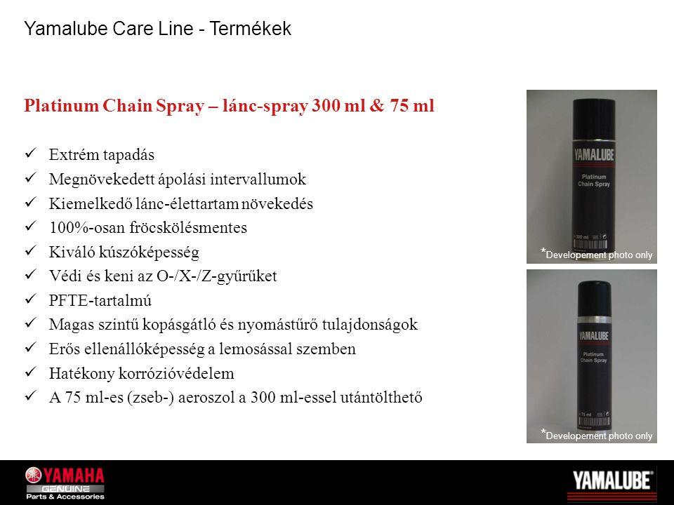 Platinum Chain Spray – lánc-spray 300 ml & 75 ml Extrém tapadás Megnövekedett ápolási intervallumok Kiemelkedő lánc-élettartam növekedés 100%-osan frö