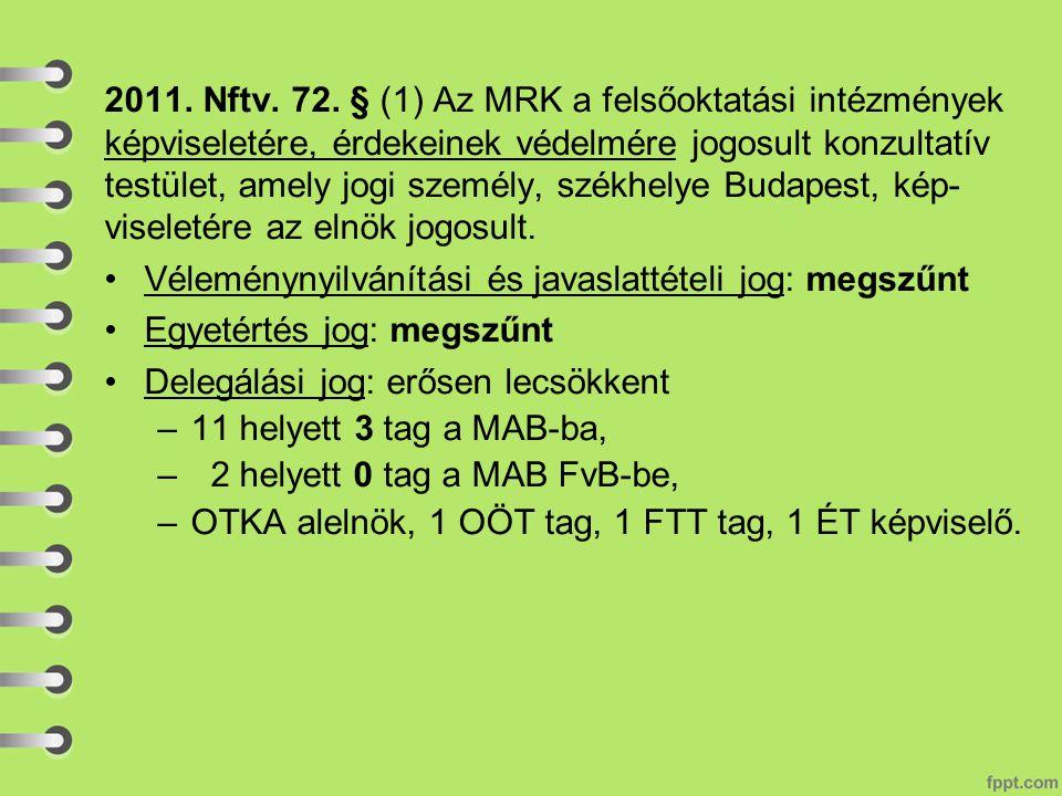 2011. Nftv. 72.