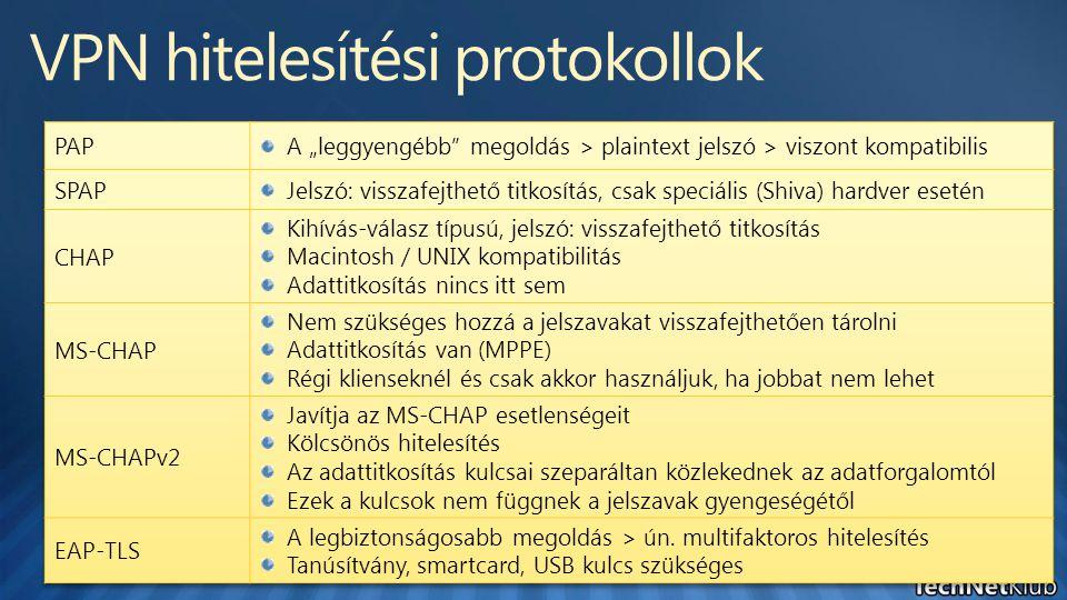 VPN hitelesítési protokollok
