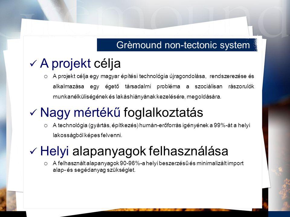 A projekt célja o A projekt célja egy magyar építési technológia újragondolása, rendszerezése és alkalmazása egy égető társadalmi probléma a szociális