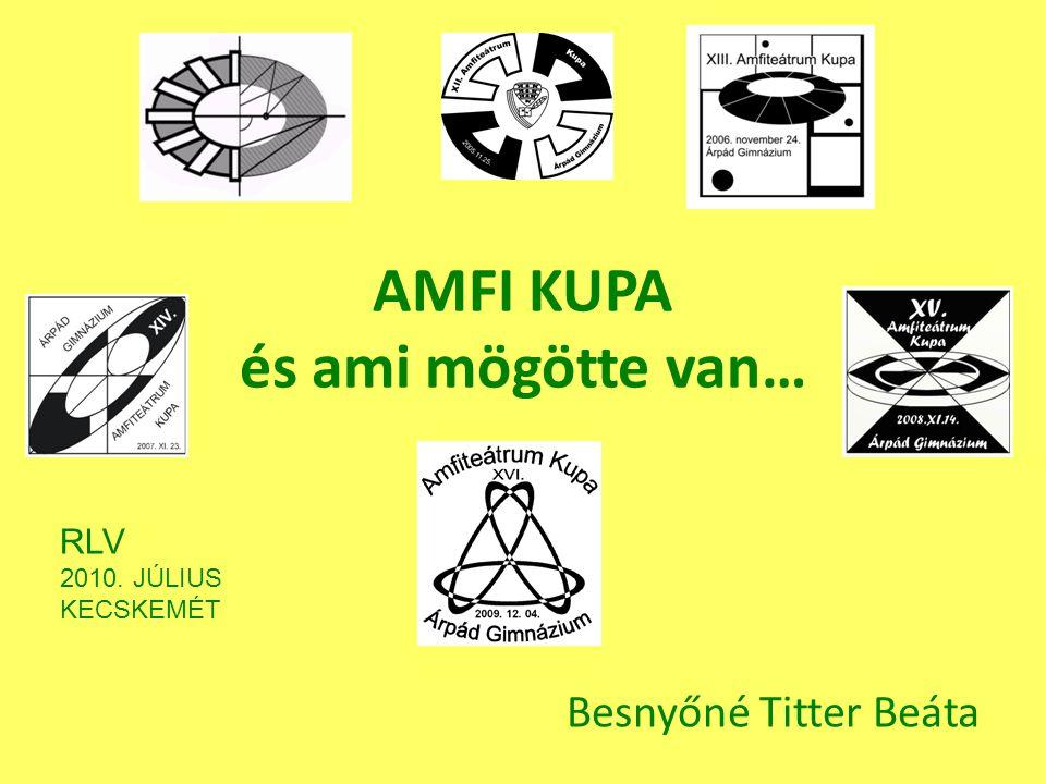 AMFI KUPA és ami mögötte van… Besnyőné Titter Beáta RLV 2010. JÚLIUS KECSKEMÉT