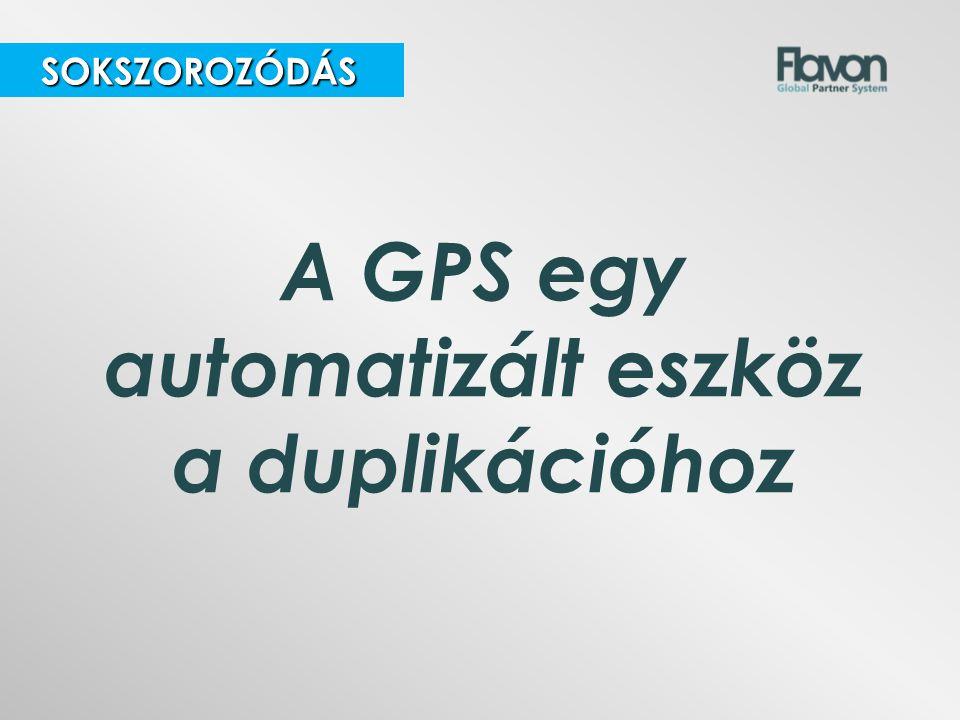 SOKSZOROZÓDÁS SOKSZOROZÓDÁS A GPS egy automatizált eszköz a duplikációhoz