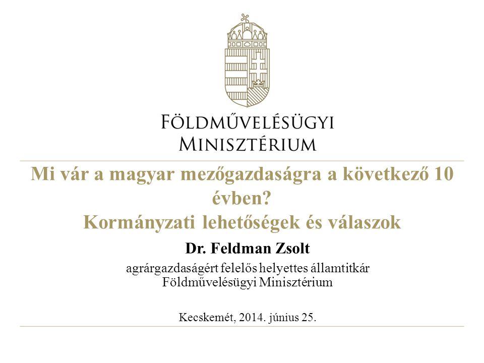 Mi vár a magyar mezőgazdaságra a következő 10 évben? Kormányzati lehetőségek és válaszok Dr. Feldman Zsolt agrárgazdaságért felelős helyettes államtit