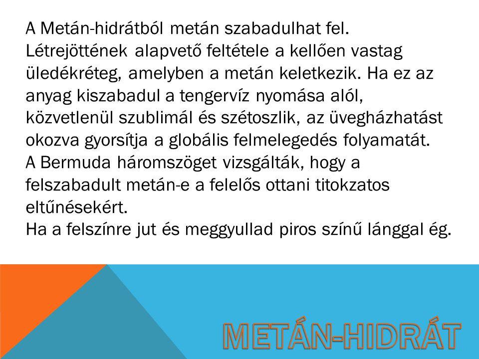 Metán-Hidrát a tengerben Égése