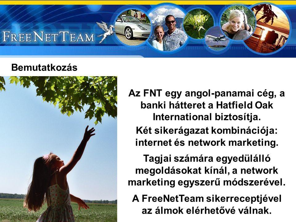 Bemutatkozás Az FNT egy angol-panamai cég, a banki hátteret a Hatfield Oak International biztosítja.