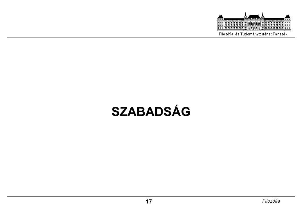 17 Filozófia SZABADSÁG