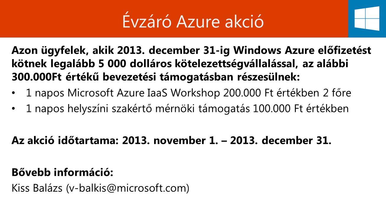 Évzáró Azure akció