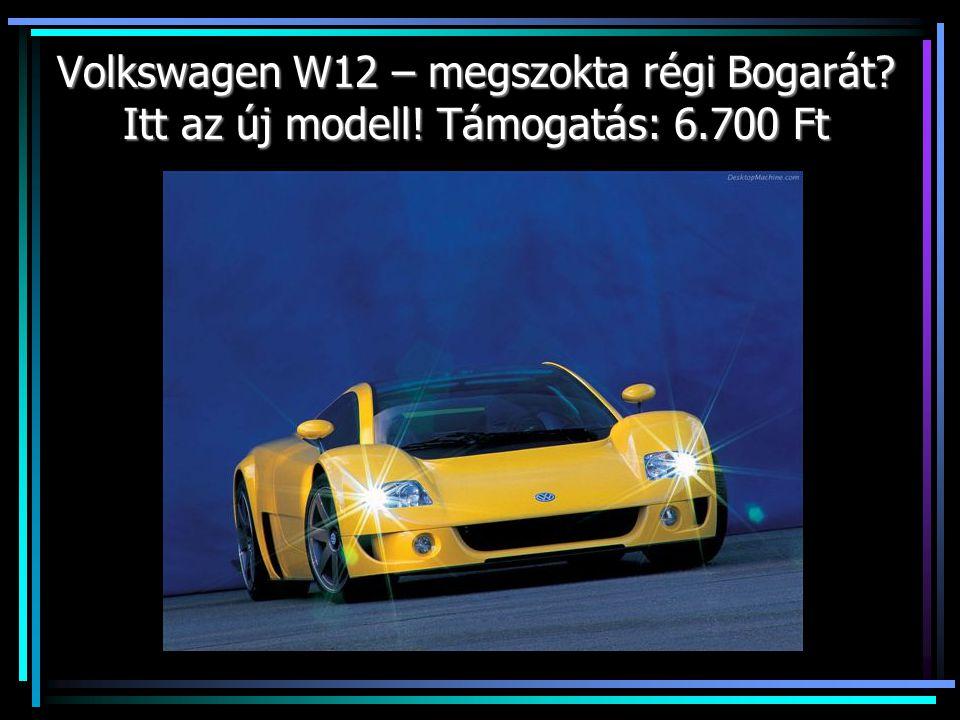 Volkswagen W12 – megszokta régi Bogarát? Itt az új modell! Támogatás: 6.700 Ft