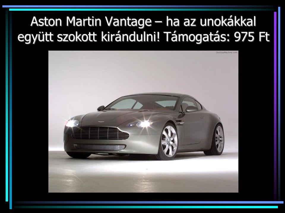 Aston Martin Vantage – ha az unokákkal együtt szokott kirándulni! Támogatás: 975 Ft
