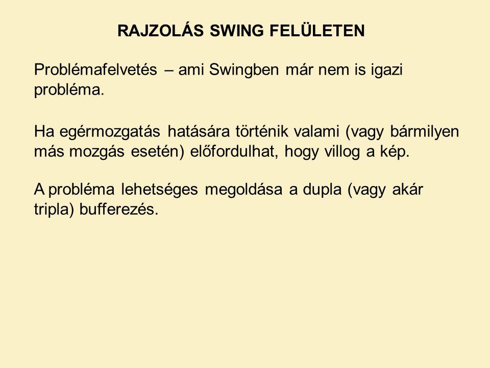 RAJZOLÁS SWING FELÜLETEN Problémafelvetés – ami Swingben már nem is igazi probléma.