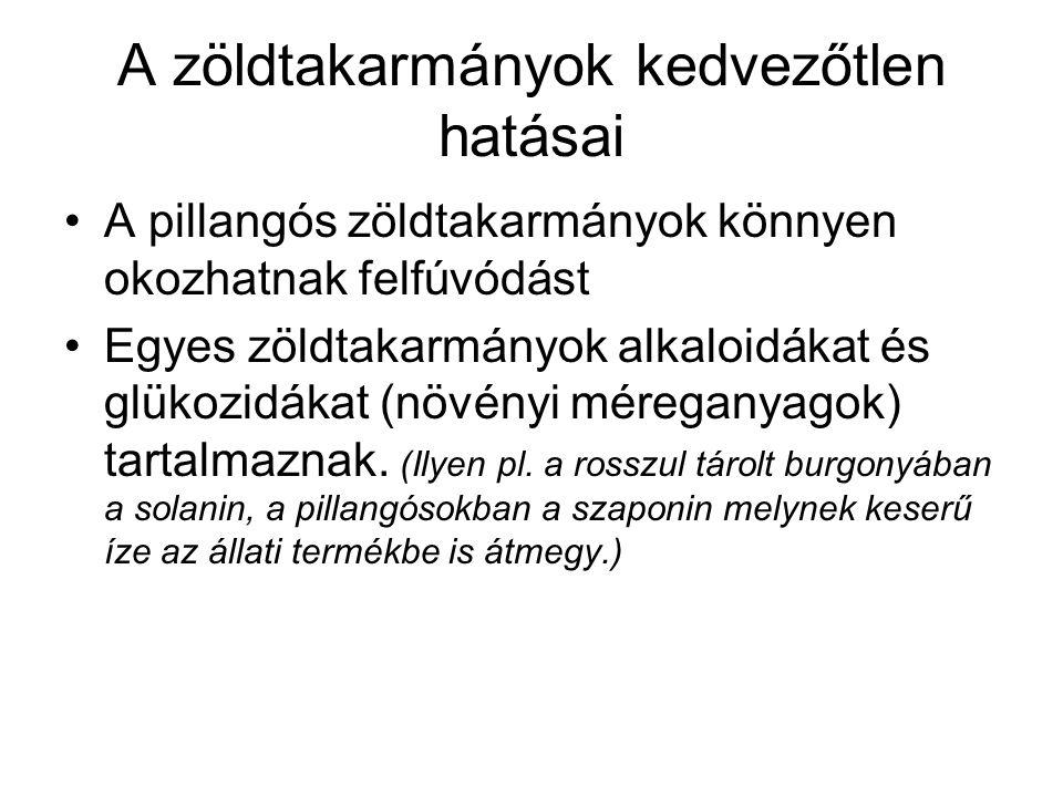 Keverék zöldtakarmányok Rozsos bükköny: –soványabb talajokon vethető, –április végétől etethető.
